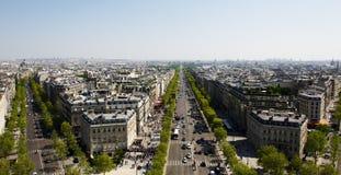 Boulevard di Parigi Fotografie Stock Libere da Diritti