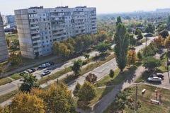 Boulevard di Sergey Gritsevets a Kharkov, vista superiore immagine stock libera da diritti