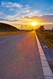 Boulevard di tramonto Immagini Stock Libere da Diritti