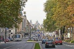 The Boulevard du Jardin Botanique Stock Photo