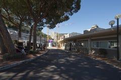 Boulevard du Jardin Exotique, Monaco Image libre de droits