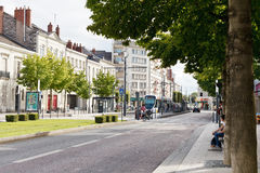 Boulevard du Marechal street in Angers, France Stock Photos