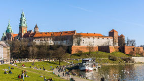 Boulevard at the foot of the Wawel Royalty Free Stock Photo