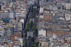 Boulevard Garibaldi in Paris. Metro line on boulevard Garibaldi in Paris Stock Image