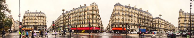 The Boulevard Haussmann Royalty Free Stock Photo