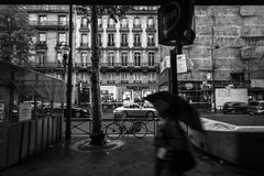 The Boulevard Haussmann Royalty Free Stock Photo