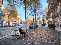 Boulevard Haussmann, Paris, France Royalty Free Stock Images