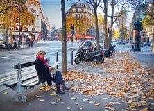 Boulevard Haussmann, Paris, France Stock Photos