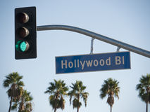 boulevard hollywood arkivbild
