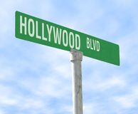 boulevard hollywood royaltyfri foto