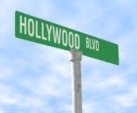 boulevard hollywood Royaltyfri Foto