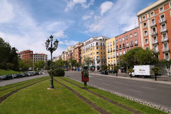 Boulevard i madrid Royaltyfria Foton