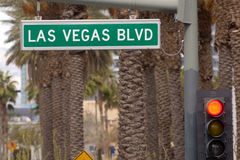 boulevard Las Vegas Royaltyfri Fotografi