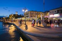 Boulevard of Lazise Royalty Free Stock Photography