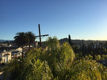 Boulevard Los Angeles di tramonto Fotografia Stock
