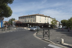 Boulevard Marceau i Helgon-Rémy-de-Provence, Frankrike Arkivbild