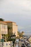 Boulevard mediterranean sea ajaccio corsica france Stock Image