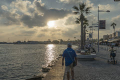 Boulevard in Pafos Stock Photography