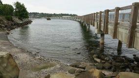 Boulevard-Park-Pier, Bellingham Lizenzfreie Stockbilder