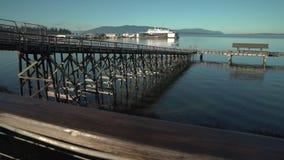 Boulevard Park Pier, Bellingham. 4K UHD stock video footage