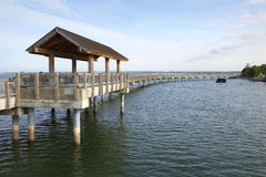 Boulevard Park Pier, Bellingham. Boulevard Park Pier on the shore of Bellingham Bay in Bellingham, Washington, USA Royalty Free Stock Images