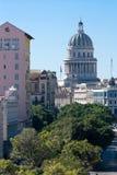 Boulevard Prado and Capitolio in Havana. Cuba royalty free stock photos