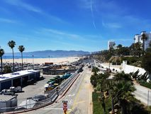 Boulevard at Santa Monica Beach in Los Angeles Royalty Free Stock Image