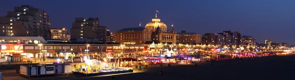Boulevard Scheveningen de vue de panorama Photographie stock