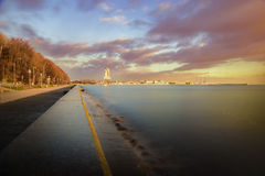 Boulevard. Seaside boulevard in gdynia poland Stock Image