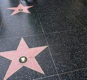 Boulevard of stars. Hollywood stars stock photos