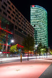 Boulevard stars Postadmer Platz to night lighting Stock Images