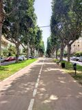 Boulevard in Tel Aviv Royalty Free Stock Image