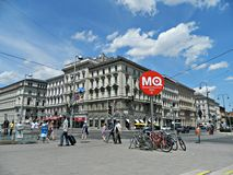 Boulevard in Vienna Royalty Free Stock Photography