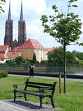 Boulevard, Wroclaw, Poland Stock Photography