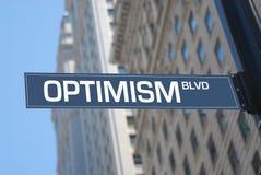 boulevardoptimism arkivfoto