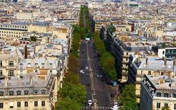 Boulevards de Paris Photo stock
