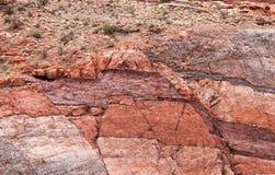 Bouleversement dans des terres de canyon Photo stock