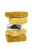 Boullion cubes. Boullion cube on white background Royalty Free Stock Images