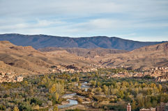 Boulmalne Dades valley at Morocco Stock Image