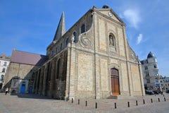 BOULOGNE SURA MER FRANCJA, SIERPIEŃ, - 28, 2017: St Nicolas kościół, Cote d ` Opal, Pas de Calais, Hauts de Francja Zdjęcie Stock