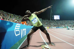 Boulon d'Usain photos stock
