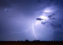 Boulon et tempête de foudre Images libres de droits