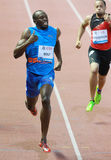 BOULON Usain (BOURRAGE) Images libres de droits