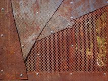 Boulons à chaînes de zinc en acier de rouille diy Image libre de droits