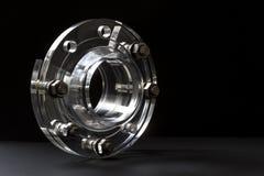 Boulons acryliques de bride de plastiques industriels Photo stock