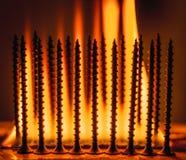 boulons brûlants Images libres de droits