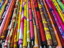 Boulons de tissu coloré Image libre de droits