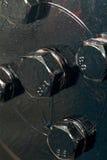 Boulons noirs et peints Photographie stock libre de droits