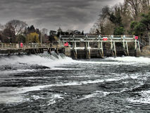 Boulters Lock Weir Stock Image