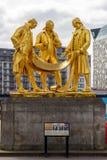 Boulton, Watts en Murdoch-Standbeeld in Birmingham stock afbeeldingen
